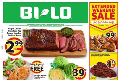 BI-LO Weekly Ad Flyer October 21 to October 27