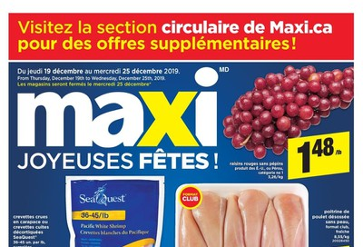 Maxi & Cie Flyer December 19 to 25