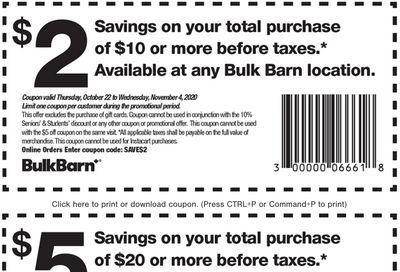 Bulk Barn Canada Coupons: Save $2 to $5 Off, until November 4