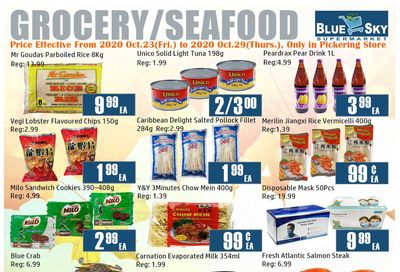 Blue Sky Supermarket (Pickering) Flyer October 23 to 29