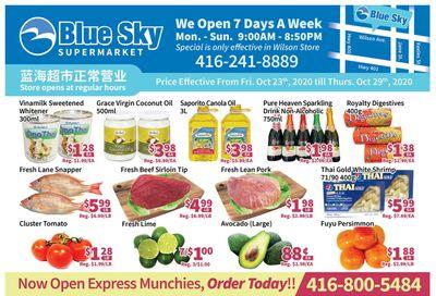 Blue Sky Supermarket (North York) Flyer October 23 to 29