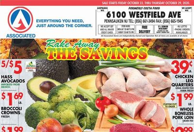 Associated Supermarkets Weekly Ad Flyer October 23 to October 29