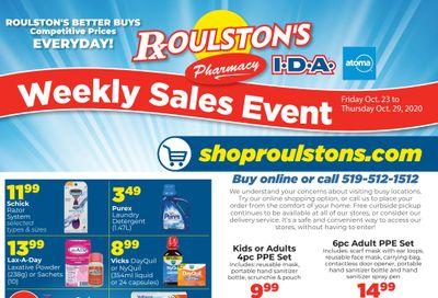 Roulston's Pharmacy Flyer October 23 to 29