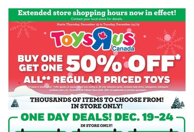 Toys R Us Flyer December 19 to 24