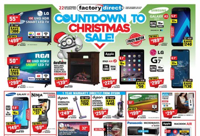 Factory Direct Flyer December 18 to 25