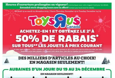 Toys R Us (QC) Flyer December 19 to 24