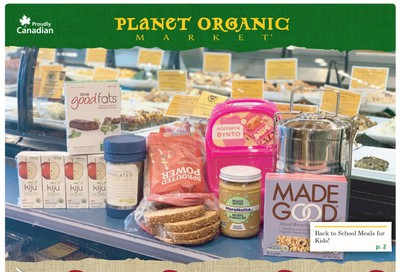 Planet Organic Market (ON) Flyer August 28 to October 1