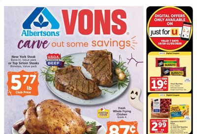 Albertsons Weekly Ad Flyer October 28 to November 3