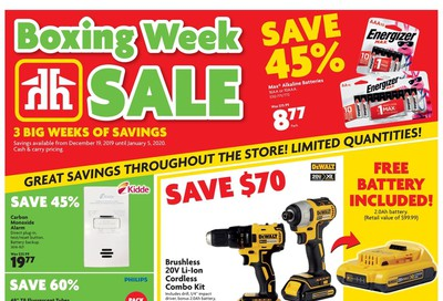 Home Hardware (ON) Boxing Week Flyer December 19 to January 5