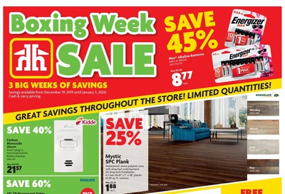 Home Hardware Building Centre (BC) Boxing Week Flyer December 19 to January 5