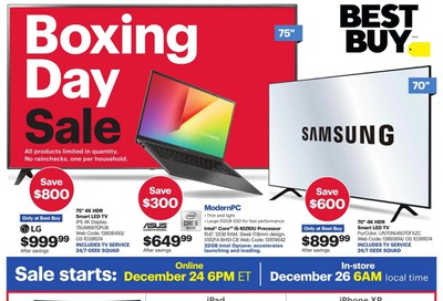 Best Buy 2019 Boxing Day Sale Flyer December 24 to January 2
