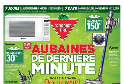 Canadian Tire (QC) Flyer December 19 to 25