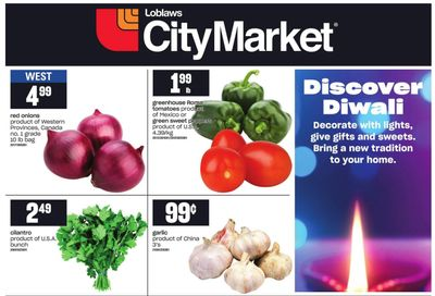 Loblaws City Market (West) Diwali Flyer October 29 to November 18