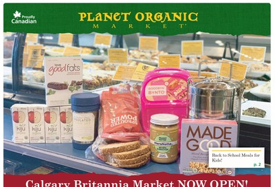 Planet Organic Market (West) Flyer August 28 to October 1