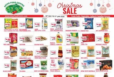 Asian Food Centre Flyer December 18 to January 5