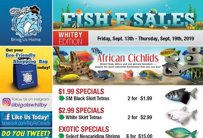 Big Al's (Whitby) Weekly Specials September 13 to 19