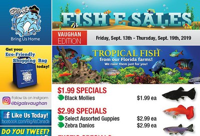 Big Al's (Vaughan) Weekly Specials September 13 to 19