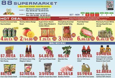 88 Supermarket Flyer October 29 to November 4