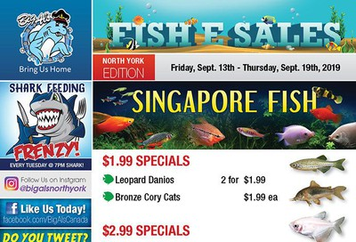 Big Al's (North York) Weekly Specials September 13 to 19