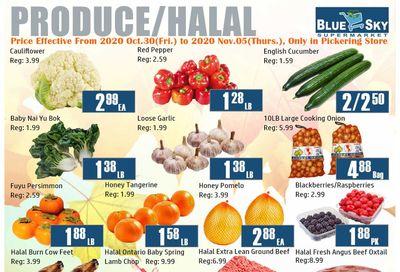 Blue Sky Supermarket (Pickering) Flyer October 30 to November 5