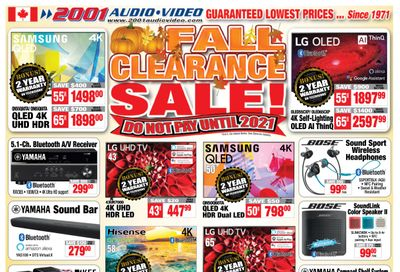 2001 Audio Video Flyer October 30 to November 5