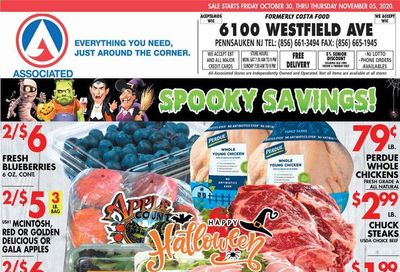Associated Supermarkets Weekly Ad Flyer October 30 to November 5