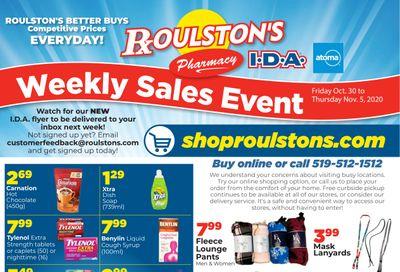 Roulston's Pharmacy Flyer October 30 to November 5