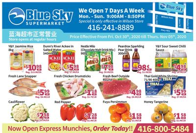 Blue Sky Supermarket (North York) Flyer October 30 to November 5