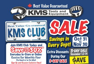 KMS Tools and Equipment Flyer November 1 to 30