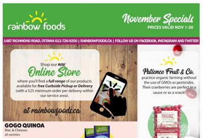 Rainbow Foods Flyer November 1 to 30
