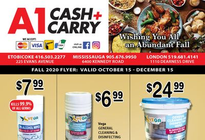 A-1 Cash and Carry Flyer October 15 to December 15