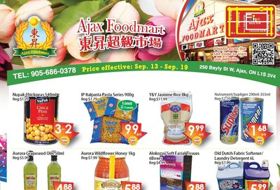 Ajax Foodmart Flyer September 13 to 19