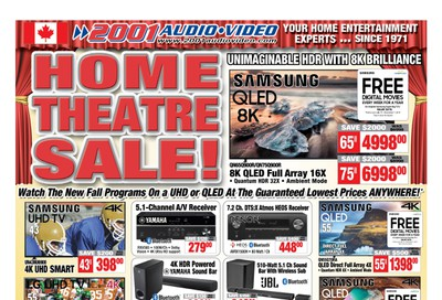 2001 Audio Video Flyer September 13 to 19