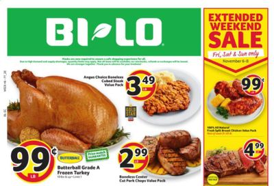 BI-LO Weekly Ad Flyer November 4 to November 10