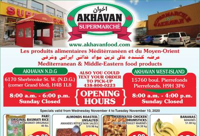 Akhavan Supermarche Flyer November 4 to 10