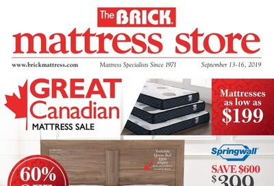 The Brick Mattress Store Flyer September 13 to 16