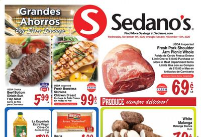 Sedano's (FL) Weekly Ad Flyer November 4 to November 10