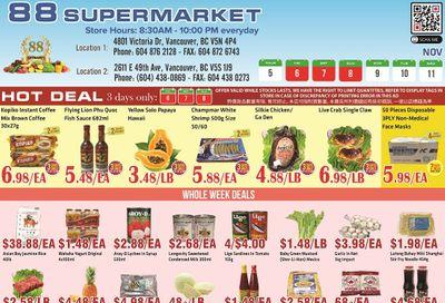88 Supermarket Flyer November 5 to 11