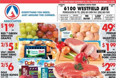 Associated Supermarkets Weekly Ad Flyer November 6 to November 12