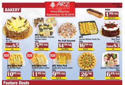 Arz Fine Foods Flyer September 13 to 19