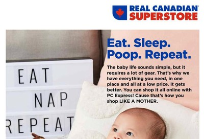 Real Canadian Superstore Baby Book September 12 to 25