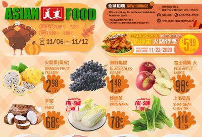 Asian Food Markets Weekly Ad Flyer November 6 to November 12