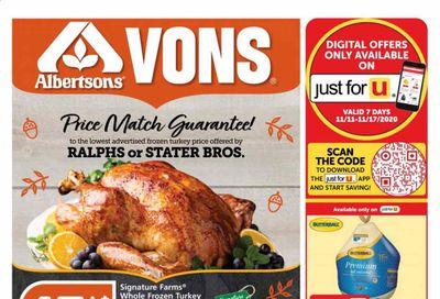 Albertsons Weekly Ad Flyer November 11 to November 17