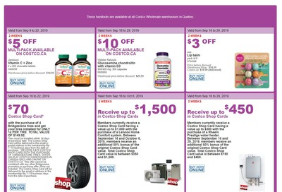Costco (QC) Weekly Savings September 16 to 22