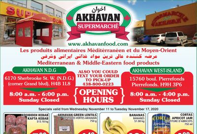 Akhavan Supermarche Flyer November 11 to 17