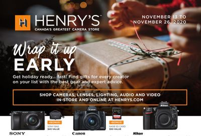 Henry's Flyer November 13 to 26