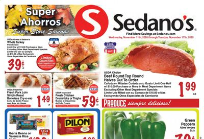 Sedano's (FL, Se) Weekly Ad Flyer November 11 to November 17