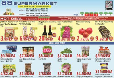 88 Supermarket Flyer November 12 to 18