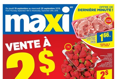 Maxi & Cie Flyer September 19 to 25