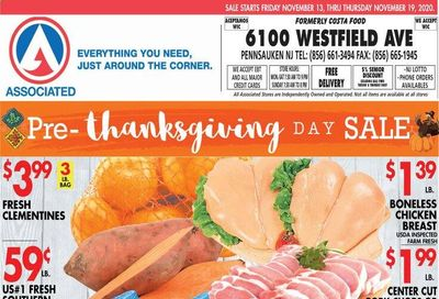 Associated Supermarkets Weekly Ad Flyer November 13 to November 19